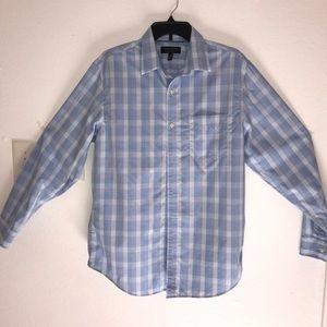 Banana Republic Men's Blue Plaid shirt Medium